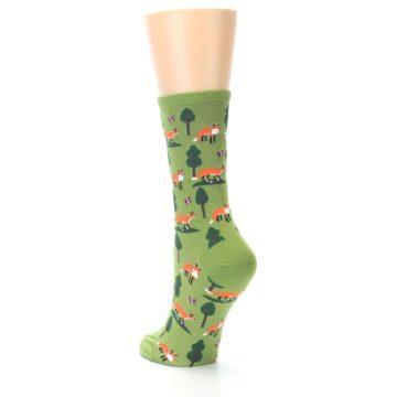 Image of Green Foxes Women's Dress Socks (side-2-back-15)