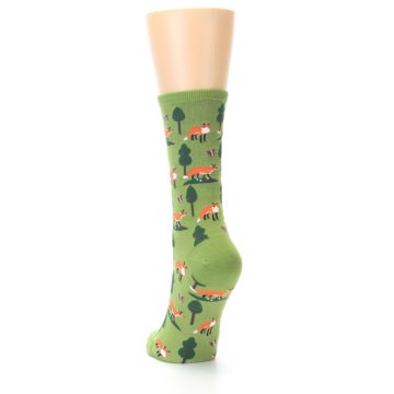 Image of Green Foxes Women's Dress Socks (side-2-back-16)