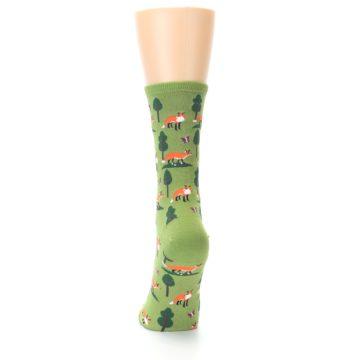 Image of Green Foxes Women's Dress Socks (back-17)