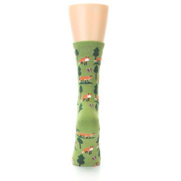 Image of Green Foxes Women's Dress Socks (back-18)