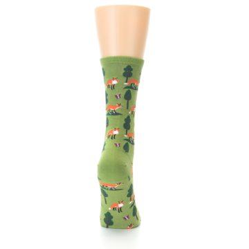 Image of Green Foxes Women's Dress Socks (back-19)
