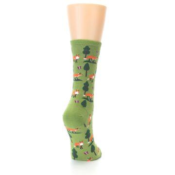 Image of Green Foxes Women's Dress Socks (side-1-back-20)