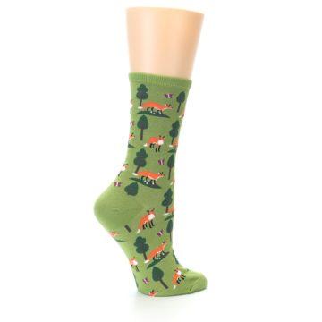 Image of Green Foxes Women's Dress Socks (side-1-23)