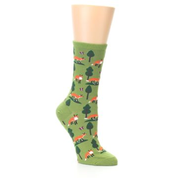 Image of Green Foxes Women's Dress Socks (side-1-26)
