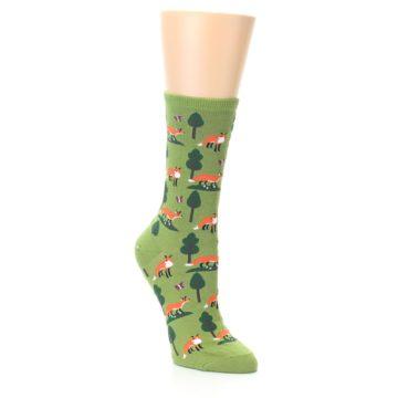 Image of Green Foxes Women's Dress Socks (side-1-27)