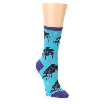 Novelty Piano Socks for Women in Blue