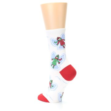 Image of White Snow Angels Women's Dress Socks (side-2-back-14)