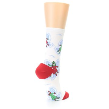 Image of White Snow Angels Women's Dress Socks (side-1-back-22)