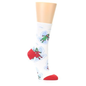 Image of White Snow Angels Women's Dress Socks (side-1-26)