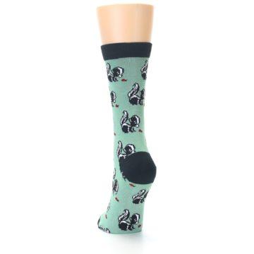 Image of Green Black Skunks Women's Bamboo Dress Socks (side-2-back-16)