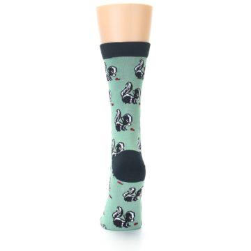 Image of Green Black Skunks Women's Bamboo Dress Socks (back-17)