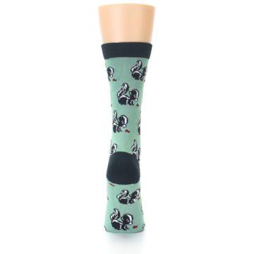 Image of Green Black Skunks Women's Bamboo Dress Socks (back-18)