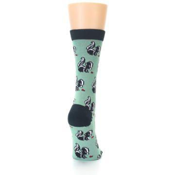 Image of Green Black Skunks Women's Bamboo Dress Socks (back-19)