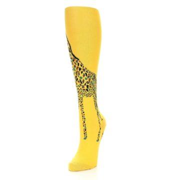 Image of Yellow Giraffe Women's Knee High Socks (side-2-front-07)