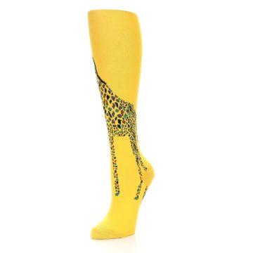 Image of Yellow Giraffe Women's Knee High Socks (side-2-front-08)