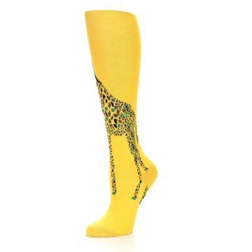 Image of Yellow Giraffe Women's Knee High Socks (side-2-09)