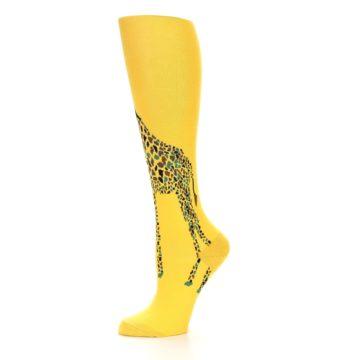Image of Yellow Giraffe Women's Knee High Socks (side-2-10)