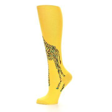 Image of Yellow Giraffe Women's Knee High Socks (side-2-11)