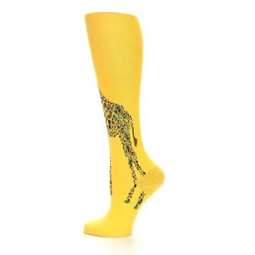 Image of Yellow Giraffe Women's Knee High Socks (side-2-12)