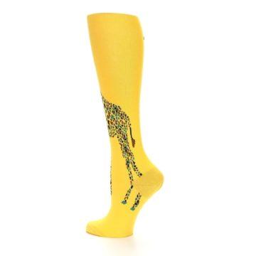 Image of Yellow Giraffe Women's Knee High Socks (side-2-13)