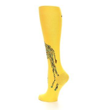 Image of Yellow Giraffe Women's Knee High Socks (side-2-back-14)