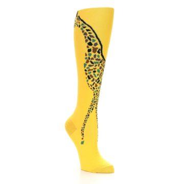Image of Yellow Giraffe Women's Knee High Socks (side-1-27)