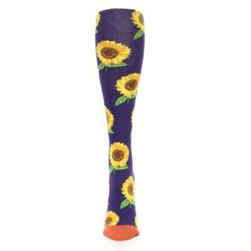Image of Purple Yellow Sunflowers Women's Knee High Socks (front-05)