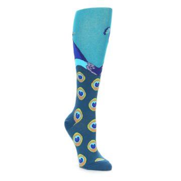 Peacock Bird Knee High Socks for Women