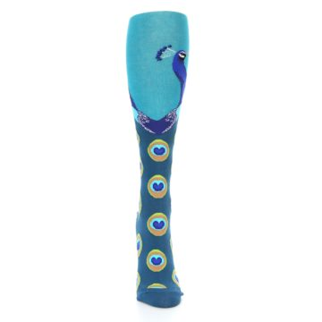 Image of Turquoise Peacock Women's Knee High Socks (front-04)