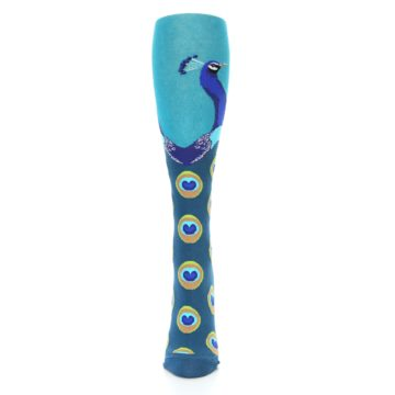 Image of Turquoise Peacock Women's Knee High Socks (front-05)