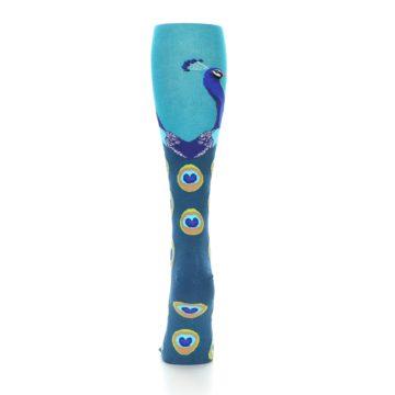 Image of Turquoise Peacock Women's Knee High Socks (back-18)