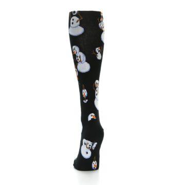 Image of Black White Snowmen Christmas Women's Knee High Socks (back-17)