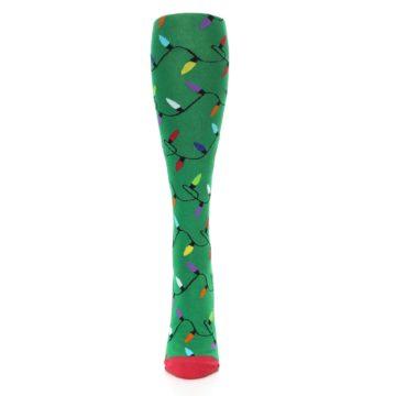 Image of Green Christmas Lights Women's Knee High Socks (front-05)
