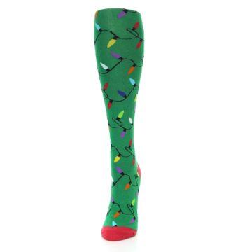 Image of Green Christmas Lights Women's Knee High Socks (side-2-front-06)