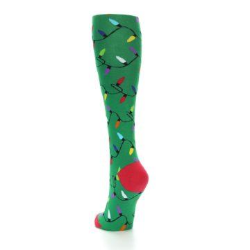 Image of Green Christmas Lights Women's Knee High Socks (side-2-back-16)