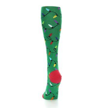 Image of Green Christmas Lights Women's Knee High Socks (back-17)