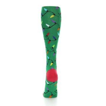 Image of Green Christmas Lights Women's Knee High Socks (back-18)