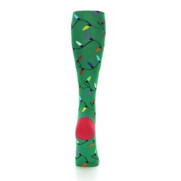 Image of Green Christmas Lights Women's Knee High Socks (back-19)