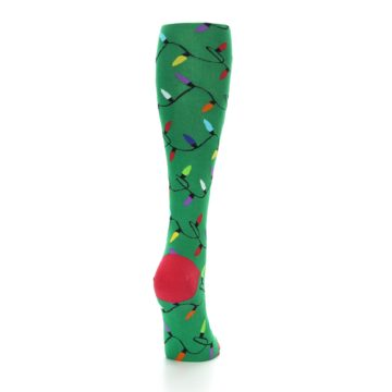 Image of Green Christmas Lights Women's Knee High Socks (side-1-back-20)
