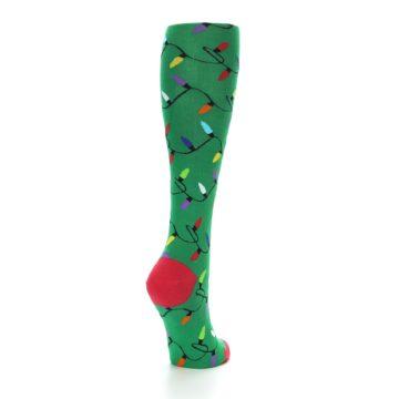 Image of Green Christmas Lights Women's Knee High Socks (side-1-back-21)