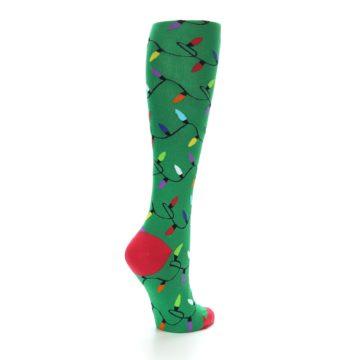 Image of Green Christmas Lights Women's Knee High Socks (side-1-back-22)
