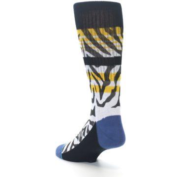 Image of Black White Zebra Stripe Men's Casual Socks (side-2-back-15)