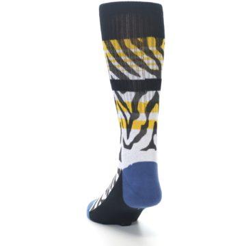 Image of Black White Zebra Stripe Men's Casual Socks (side-2-back-16)