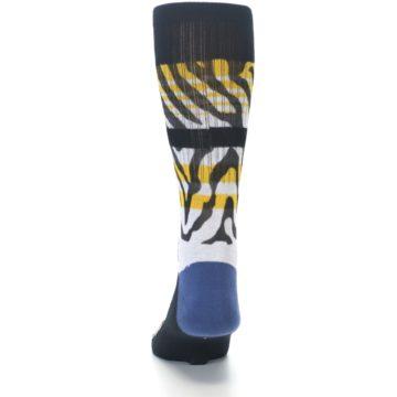 Image of Black White Zebra Stripe Men's Casual Socks (back-17)
