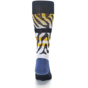 Image of Black White Zebra Stripe Men's Casual Socks (back-18)