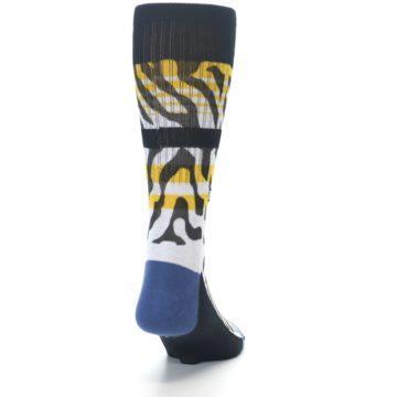 Image of Black White Zebra Stripe Men's Casual Socks (back-19)