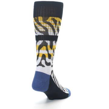 Image of Black White Zebra Stripe Men's Casual Socks (side-1-back-20)