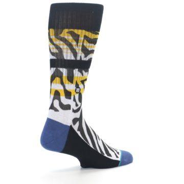 Image of Black White Zebra Stripe Men's Casual Socks (side-1-back-22)