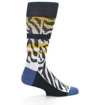 Image of Black White Zebra Stripe Men's Casual Socks (side-1-23)