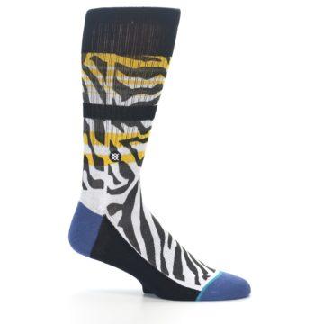 Image of Black White Zebra Stripe Men's Casual Socks (side-1-25)